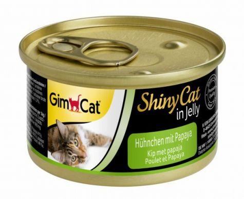 GIMCAT SHINYCAT IN JELLY KIP MET PAPAJA, 70 G