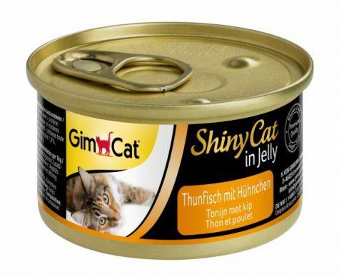 GIMCAT SHINYCAT IN JELLY TONIJN MET KIP, 70 G