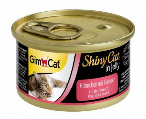 GIMCAT SHINYCAT IN JELLY KIP MET KRAB, 70 G