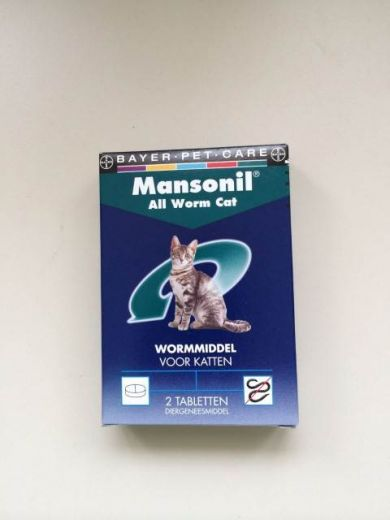 BAYER MANSONIL ALL WORM CAT ELLIPSOID 2 TABL.