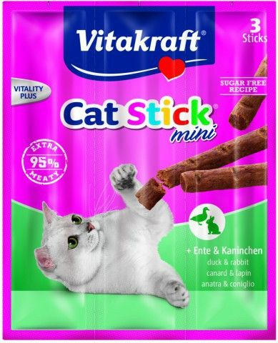 VITAKRAFT CAT STICK MINI, EEND & KONIJN
