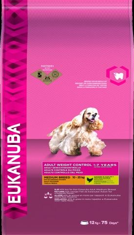 EUKANUBA DOG ADULT WEIGHT CARE MEDIUM BREED 12KG