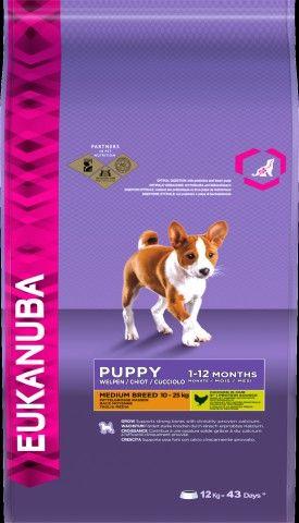 EUKANUBA DOG GROWING PUP MEDIUM BREED12 KG