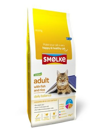 SMOLKE KATTENBROKJES ADULT WITH FISH AND RICE 2 KG
