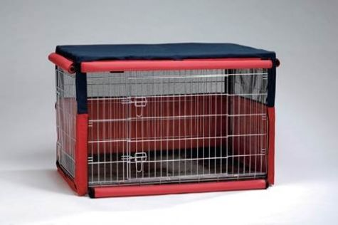 BENCH HOES BLAUW ROOD