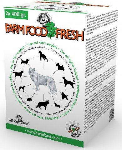 FARM FOOD BAKJES 2X400 GRAM PENS-HART COMPLEET 800 GR. DIEPVRIES