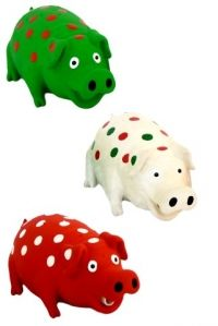 LATEX GRUNTING PIG WITH SPOTS 21 CM