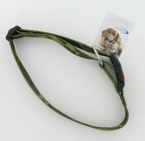 HALSBAND NYLON MET SAFETY BUCKLE CAMOUFLAGE 25MM X 45-70CM