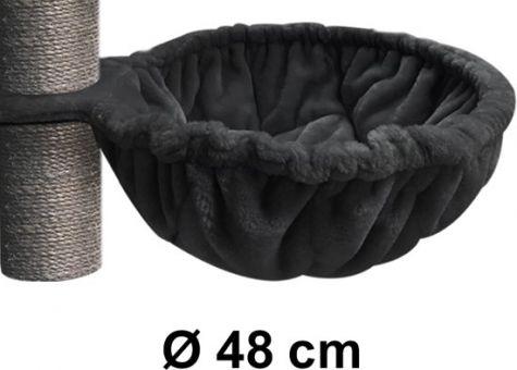 PET REBELS & MORE LUXURY SLEEPER XL 48CM ROYAL BLACK