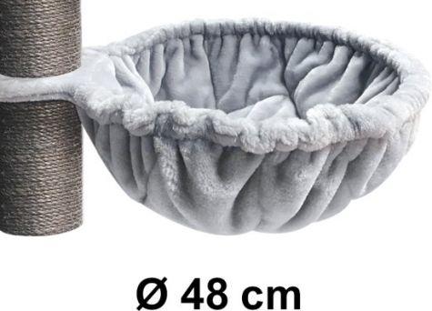 PET REBELS & MORE LUXURY SLEEPER XL 48CM ROYAL GREY